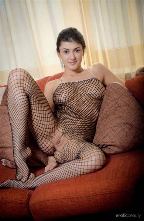 Busty Babe In Full Body Fishnet