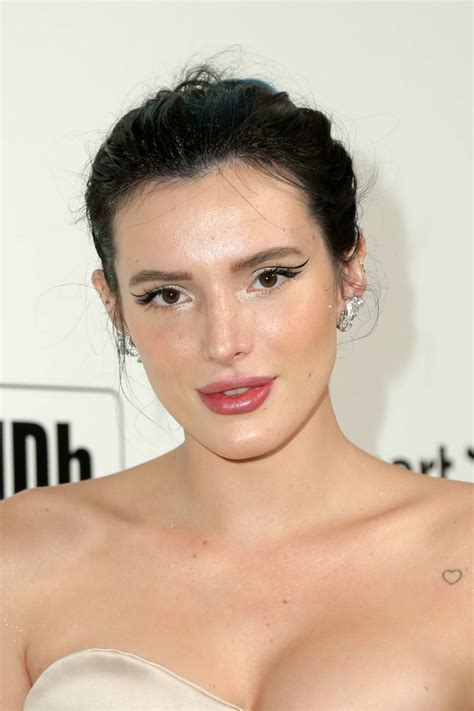 bella thorne attends the 28th annual elton john aids ...