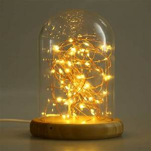 firework decoreation light glass cover table usb led night With glass table lamp and night light
