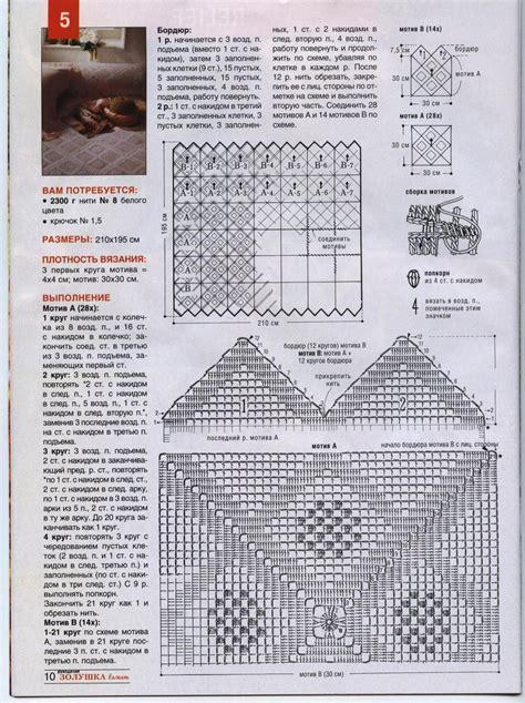 Copriletti Uncinetto Schemi by Copriletto Uncinetto Moduli Quadrati Bordo A Punte 2