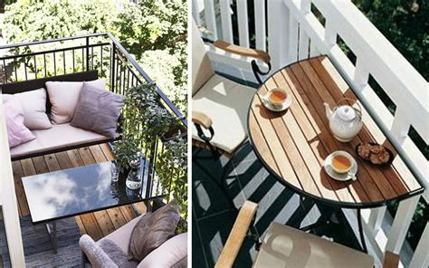Small Balcony With Bench And Table Pictures, Photos, And