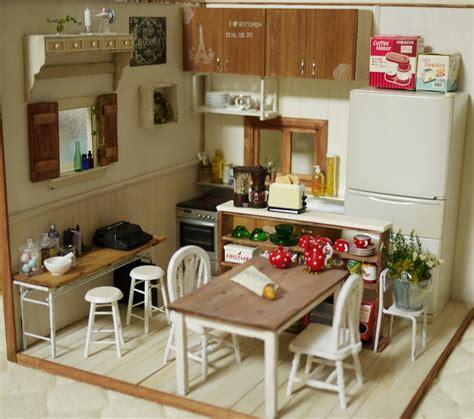 miniature dollhouse kitchen furniture mini kitchen room box miniature mini