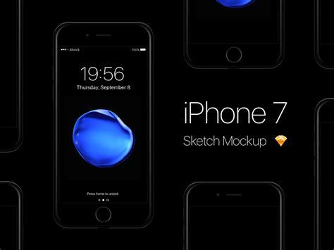 iphone  jet black sketch mockup  pontus