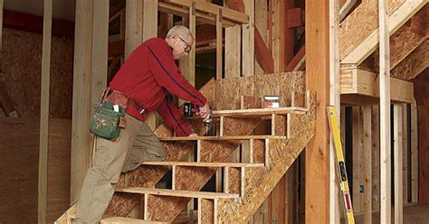 framing stairs   landing   shaped staircase
