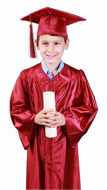 Graduation Gown Boy Wearing Cap Young Student