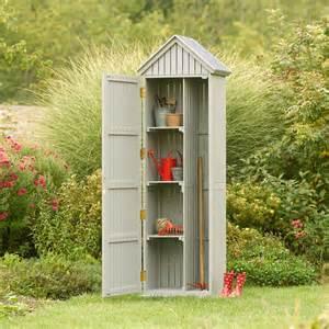 Armoire Rangement Jardin Truffaut by Armoire Bourdillette En Bois Gris L 48 X L 60 X H