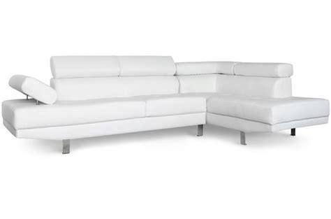 canape avec tetiere canapé d 39 angle gauche blanc avec têtière relevable mildura
