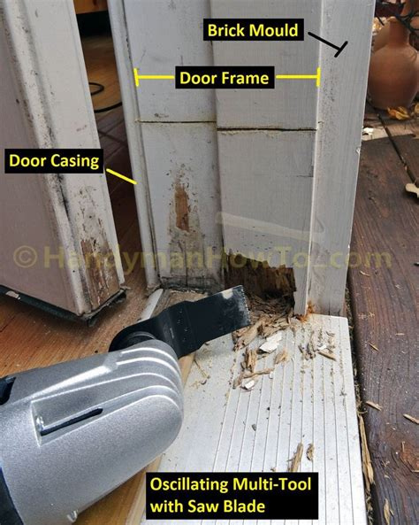 exterior door frame repair   rotted section