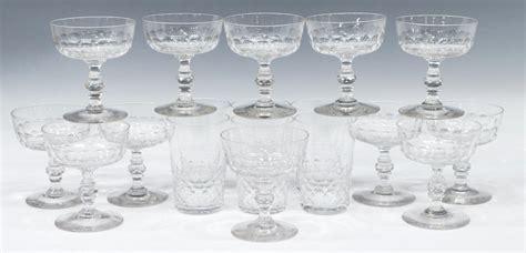 (18) Baccarat Crystal Champagne & Barware Group