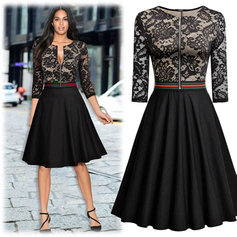 amazing womens retro style floral lace evening party
