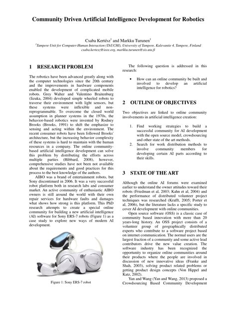 (PDF) Community Driven Artificial Intelligence Development