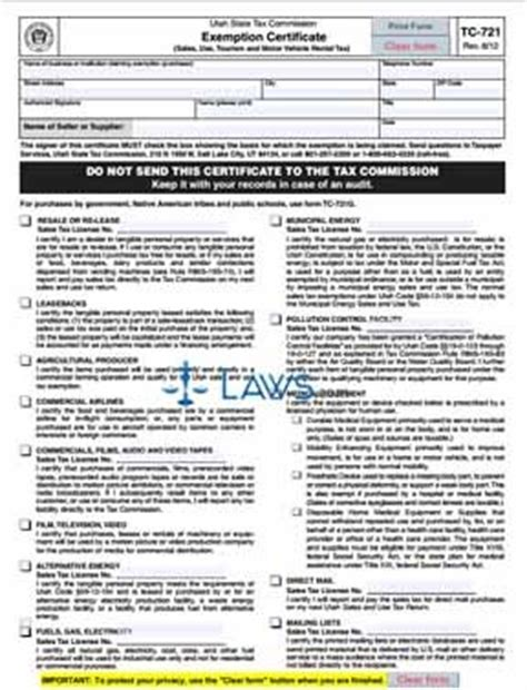 Illinois Religious Exemption Form by Form Tc 721 Exemption Certificate Tax Exemptions Forms