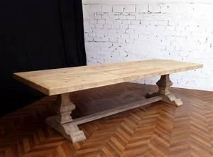 Table En Bois Massif Ancienne : grande table de ferme table monast re ancienne en bois massif de campagne salle manger ~ Teatrodelosmanantiales.com Idées de Décoration