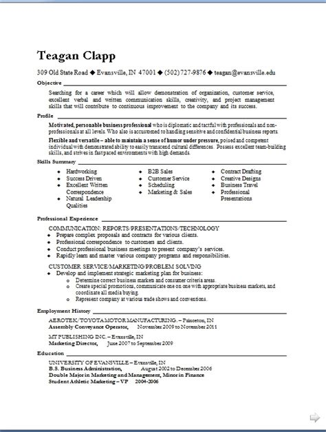 customer service resume templates  word format