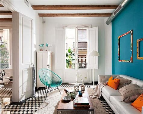 interior decoration ideas for living room barcelona style retro modern interior design project by