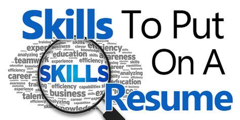 good skills  put   resume powerful examples