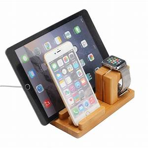 Iphone 6s Ladestation : docking station ladestation bambus tisch st nder f r ipad iwatch iphone 5 6 6s ebay ~ Orissabook.com Haus und Dekorationen