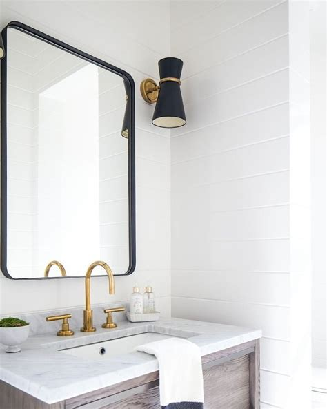 Black Bathroom Mirrors 20 quot x 30 quot rounded rectangle metal framed mirror in 2019