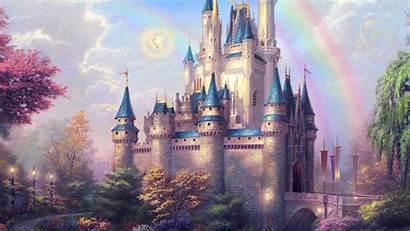 Disney Castle Fantasy Illustration Papers 4k