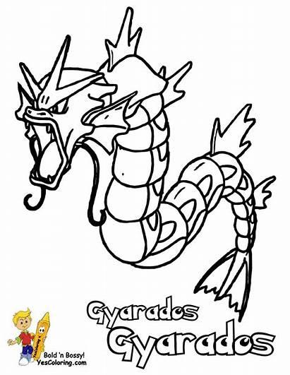 Pokemon Coloring Gyarados Ex Coloriage Cartoon Boys