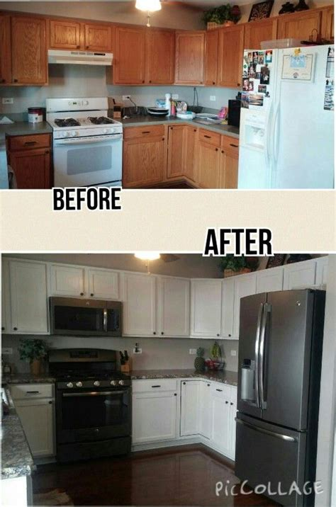 our inexpensive kitchen remodel painted cabinets using