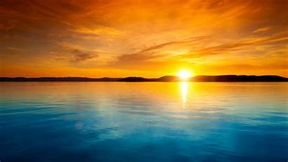 Sunset Horizon Landscape Gambar Pemandangan Wallpapers Desktop