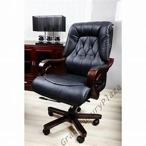 Confortable Fauteuil Pivotant De Bureau En Cuir MAKLER