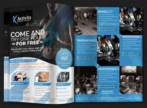 awesome sport magazine cover  layout templates web