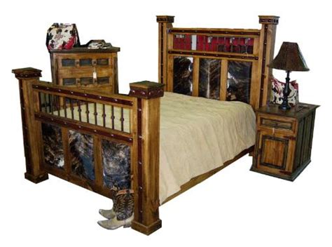 cowhide bedroom furniture rustic western bedroom furniture log cabin we beat free