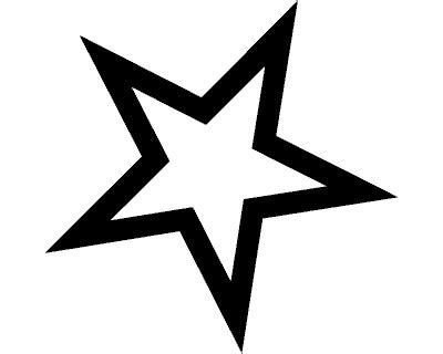 Herz und stern klein zum ausdrucken : Stern Aufkleber 'Outline'   Vorlage stern, Malvorlage ...
