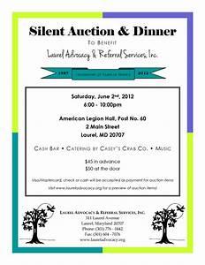 south laurel views jun 2 6pm lars silent auction dinner With silent auction program template