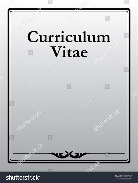 curriculum vitae documentation front page vector stock
