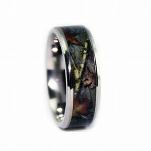 8c100bvt bevel titanium camo wedding ring camo wedding With camo titanium wedding rings