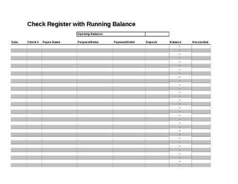 checkbook register templates word templates