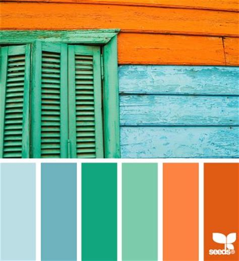 Blue Green Orange Color Scheme
