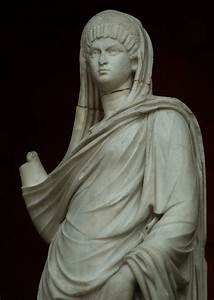Statue of a Roman woman. White marble. Early 2nd century ...