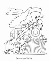 Coloring Train Steam Pages Trains Engine Locomotive Sheets Activity Railroad Diesel History Clrg Template sketch template