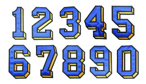 applique numbers  grand slam designs pulse fonts