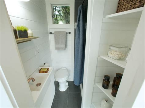 small bathroom shelving ideas 8 tiny house bathrooms packed with style hgtv 39 s