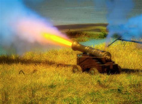 Brass Cannon Firing Photograph by Garry Gay