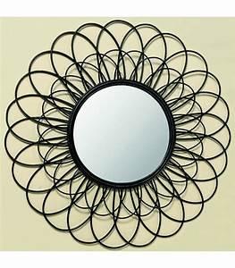 Miroir En Rotin : miroir en rotin rond noir ~ Nature-et-papiers.com Idées de Décoration