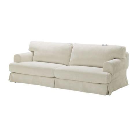 ikea hovas hovas sofa slipcover cover graddo beige  white graeddoe