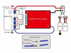 Bms Battery Management System 24v 7s 25a