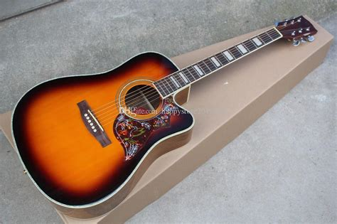 acoustic guitar saddle nut bone guitars inch dhgate fingerboard rosewood pickguard hummingbird customized