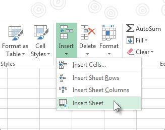 insert  delete  worksheet excel