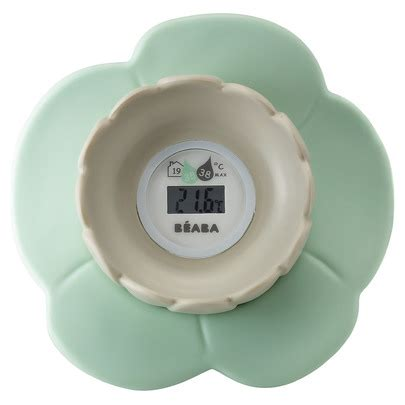 thermometre de chambre bébé thermomètre de bain lotus de beaba thermomètres aubert