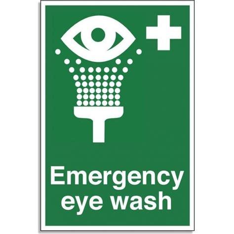emergency eye wash  aid sign rsis