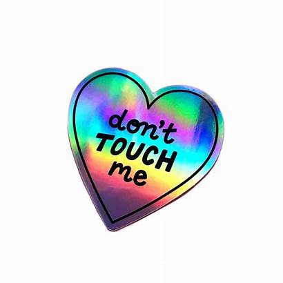 Sticker Stickers Touch Holographic Vinyl Don Dont