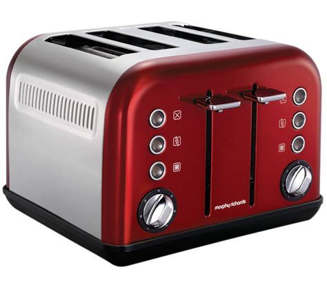 Buy MORPHY RICHARDS Accents 242004 4 Slice Toaster   Red