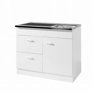 Küchenspüle Mit Unterschrank Günstig : k chen sp lenschrank 1 t rig 2 ausz ge breite 100 cm ~ Lizthompson.info Haus und Dekorationen